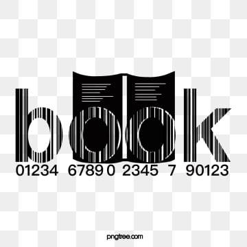 creative black and white book digital bar code, Book, Book, Creative PNG and PSD