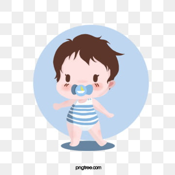 cute cartoon boys eat pacifiers, Cartoon, Copyrighted, Lovely PNG and PSD