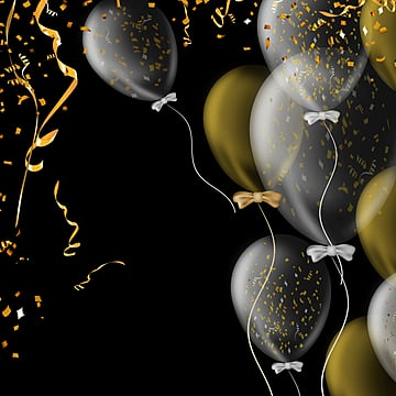 Golden Scrap Party Balloon, Color Chip, Ambience, Atmosphere PNG and PSD