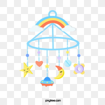 moon star spacecraft rainbow cloud baby toy lifting, Copyrighted, Baby, Rainbow PNG and PSD