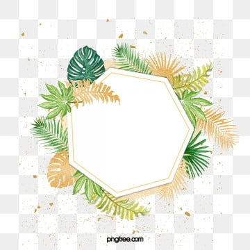 nordic green plants watercolor luxury gold border elements, Element, Northern Europe, Leaf PNG and PSD