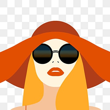 orange retro style summer character elements, Sunglasses, Retro Style, Summer PNG and PSD