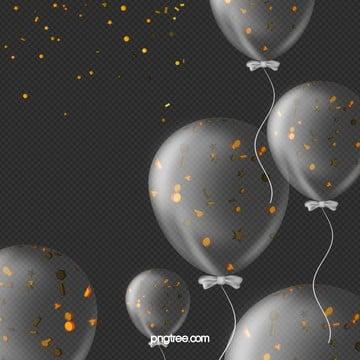 Latmosfera di festa trasparente di palloncini, Briciole Di Colore, Latmosfera, Il Palloncino PNG e PSD