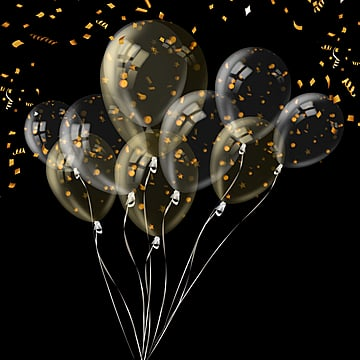 Parties decorated with transparent balloon scraps, Color Chip, Ambience, Balloon PNG and PSD