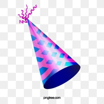 Purple Stripe Birthday Party Hat, Colourful, Color Chip, Flag PNG and PSD