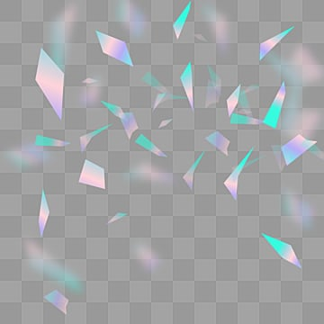 transparent elements of transparent paper plastic blocks, Sequins, Holographic, Drop PNG and PSD