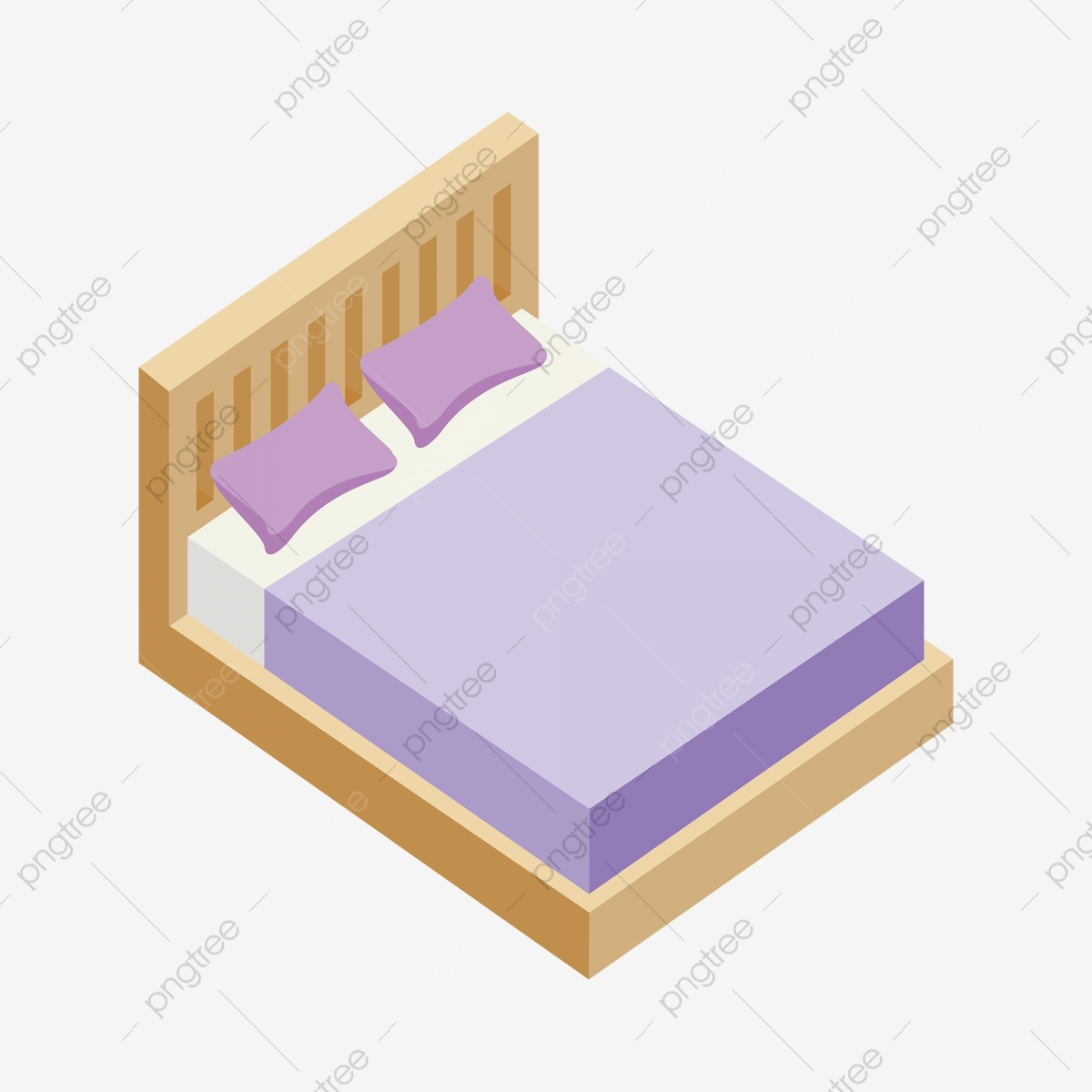 2 5d Purple Wood Bed Furniture Bed Clipart Purple Bed Bed Png And Vector With Transparent Background For Free Download