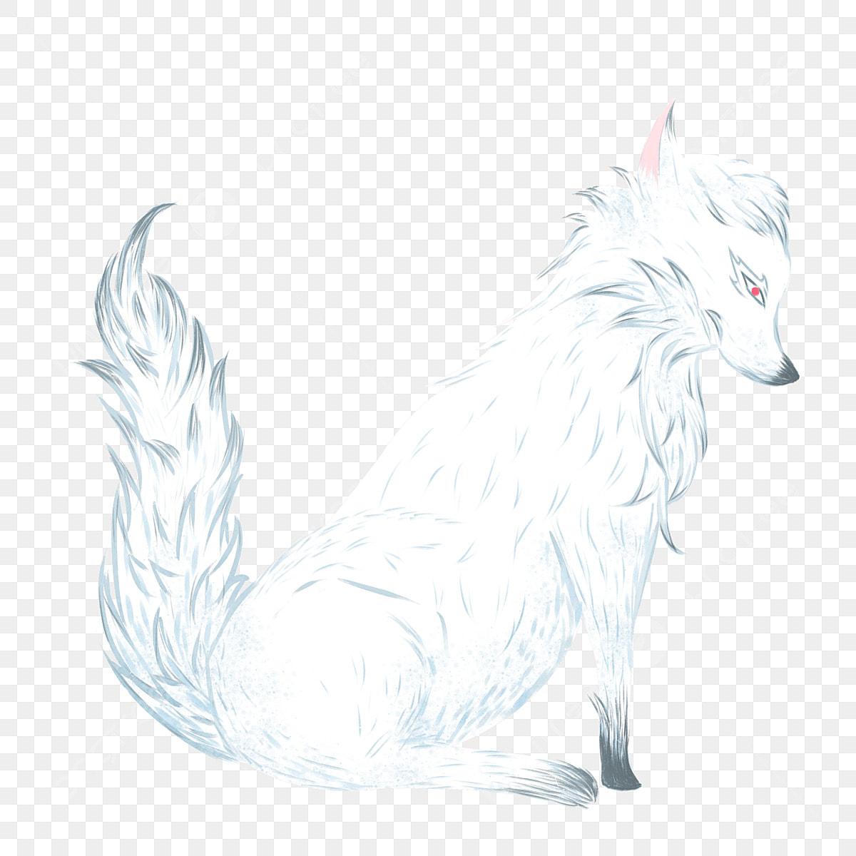 Un Dessin Anime De Loup Avec Des Elements Commerciaux Facile Blanc Dessin Anime Fichier Png Et Psd Pour Le Telechargement Libre
