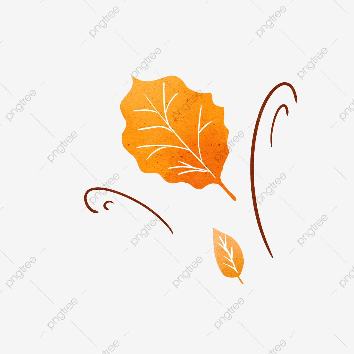 Autumn Wind Blowing Leaves Hand Drawn Elements Fall Wind Leaf Png Transparent Clipart Image And Psd File For Free Download