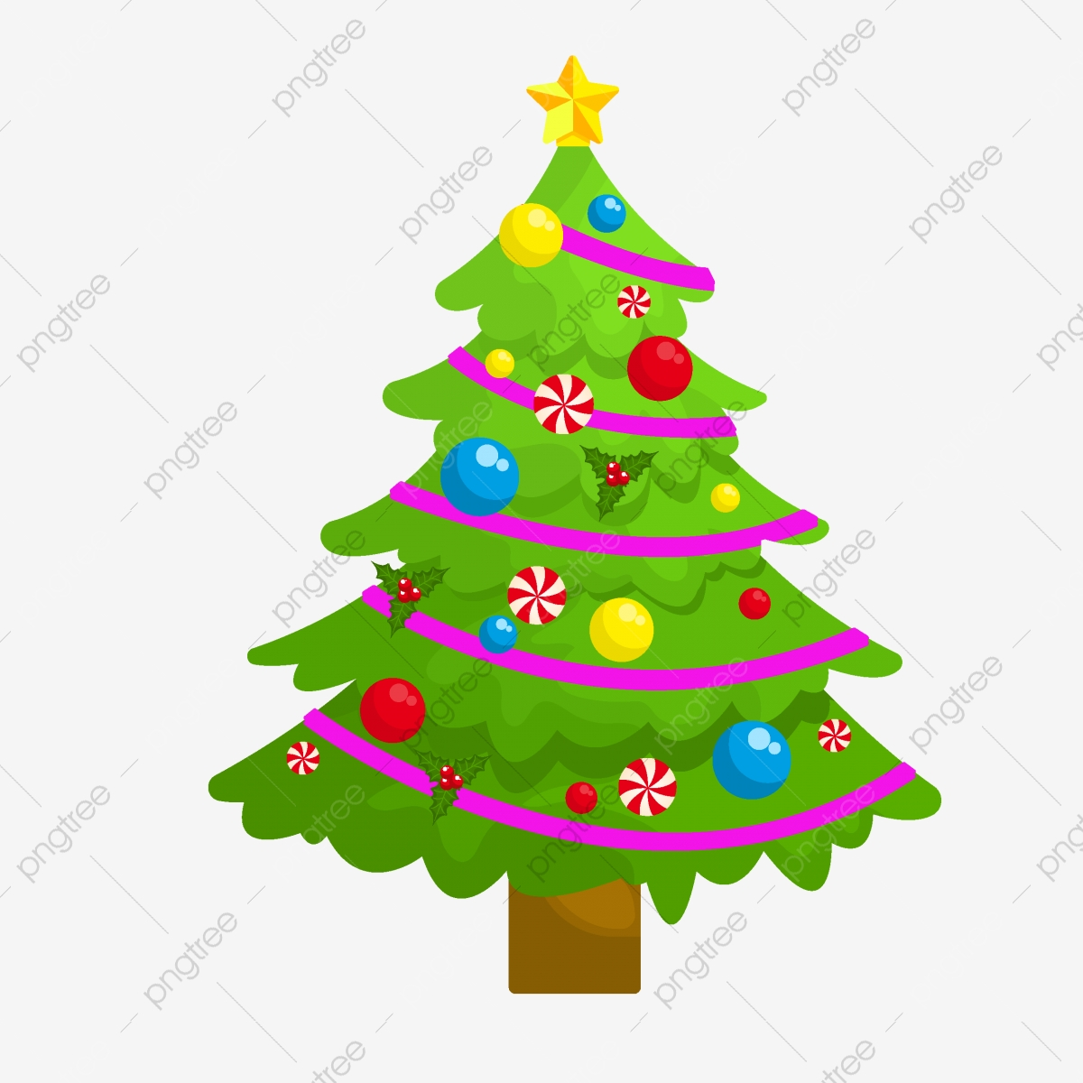 Cartoon Cute Christmas Tree Element For Commercial Use Simple Pretty Lovely Png And Vector With Transparent Background For Free Download This is a set of detailed vector christmas tree illustrations: https pngtree com freepng cartoon cute christmas tree element for commercial use 4030113 html