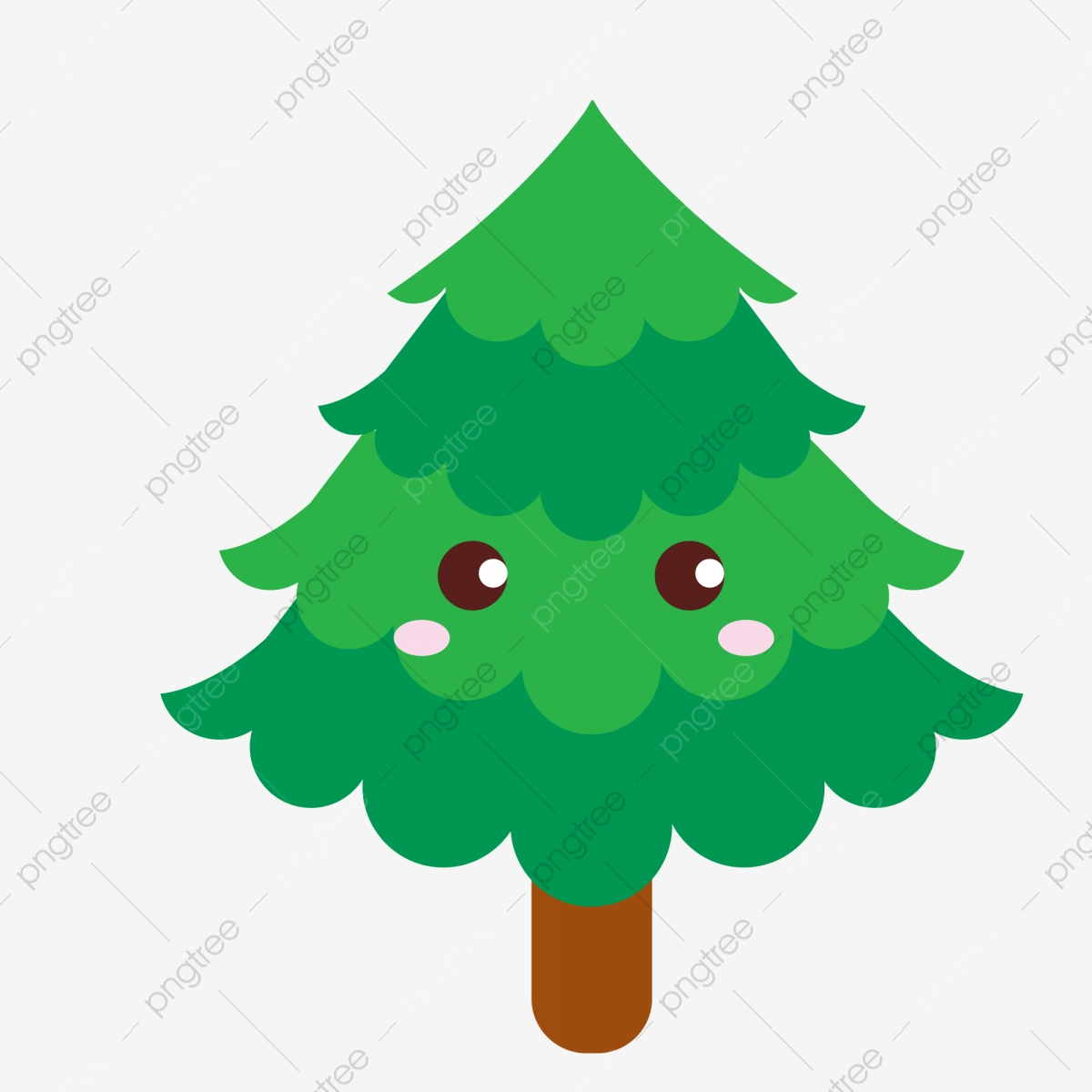cartoon cute christmas tree green plant christmas tree clipart cartoon lovely png and vector with transparent background for free download https pngtree com freepng cartoon cute christmas tree green plant 4041141 html