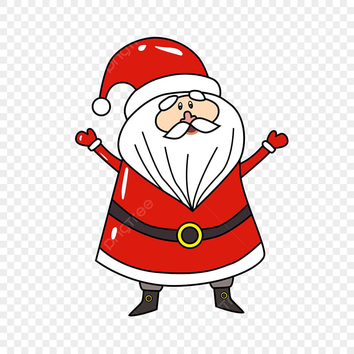 Dessin Animé Mignon Père Noël Dessin Animé Le Père Noël