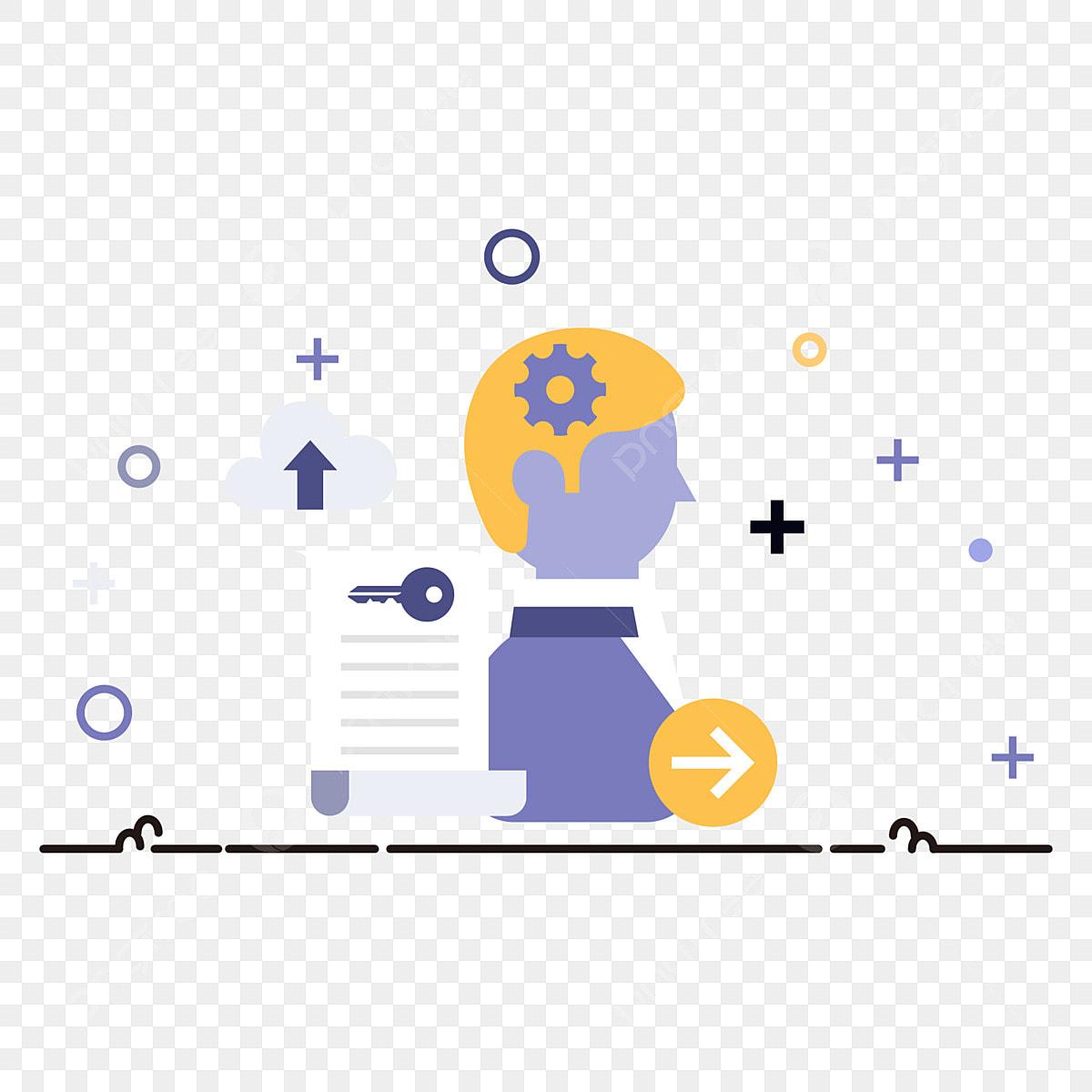 Icono De La Oficina Internet Los Hombres Negocios Color