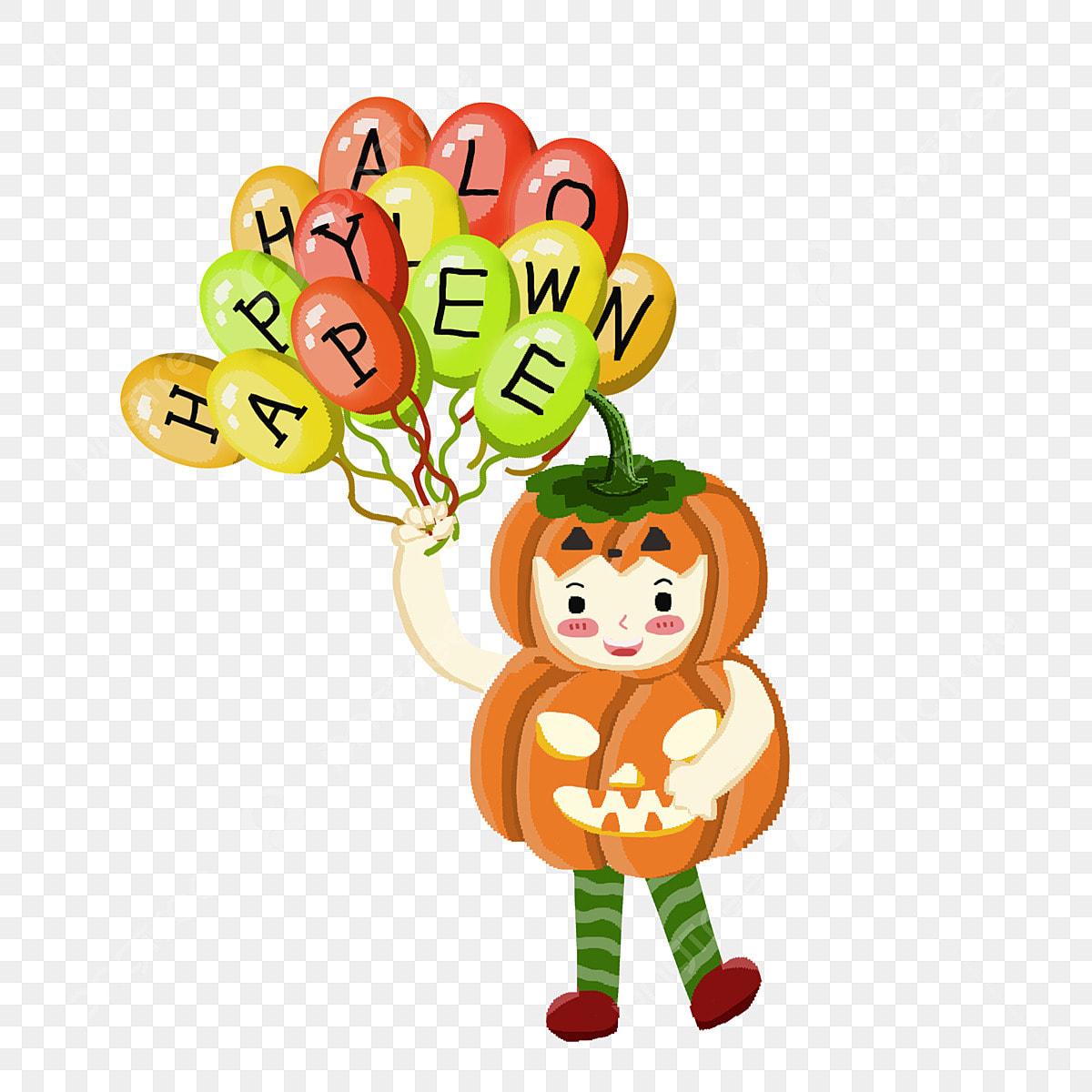 Dessin Anime Colore Halloween Citrouilles Pixelise Elements