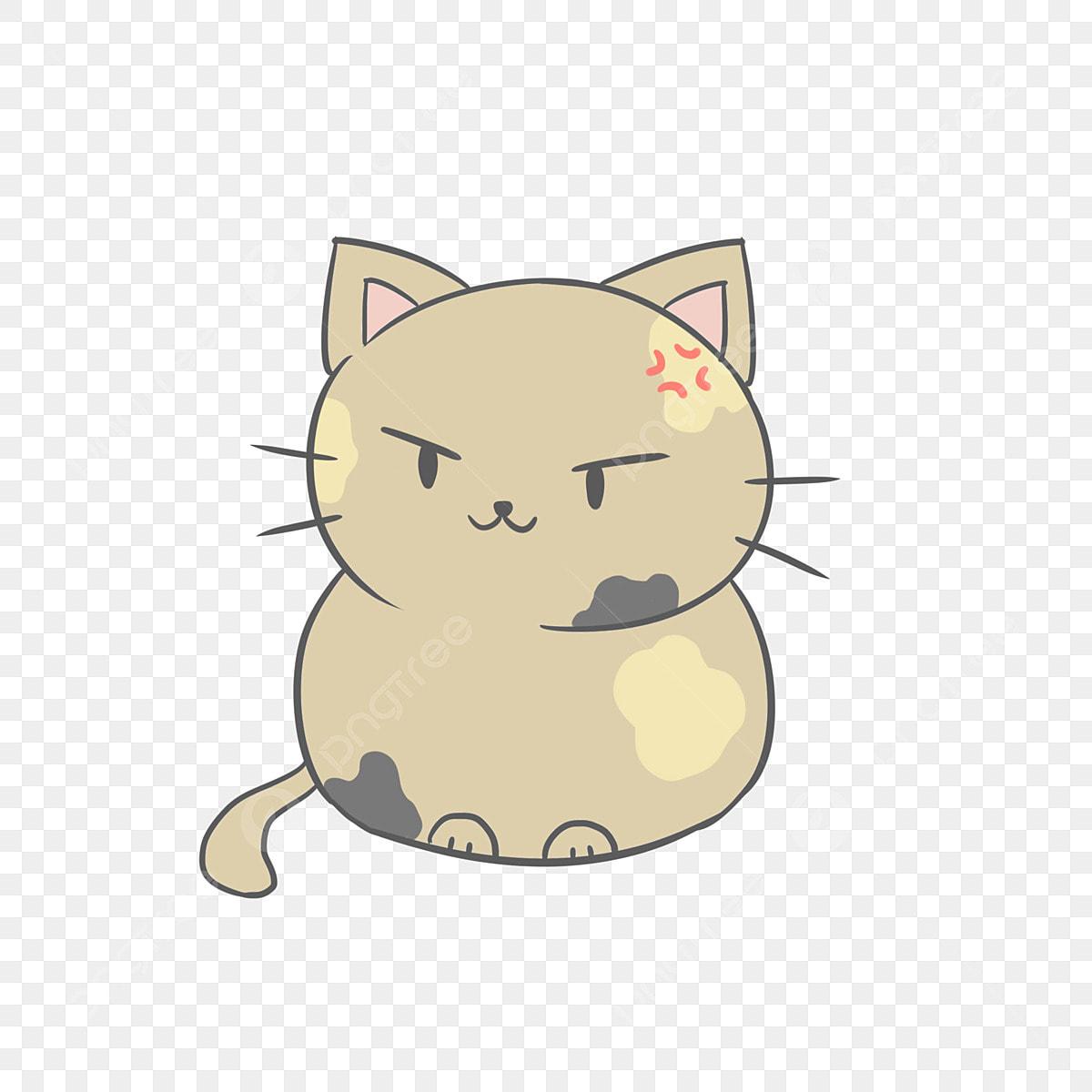 Gambar Kartun Comel Jepun Ekspresi Kucing Segar Pak Universal 6 Comel Kartun Kucing Png Dan Psd Untuk Muat Turun Percuma