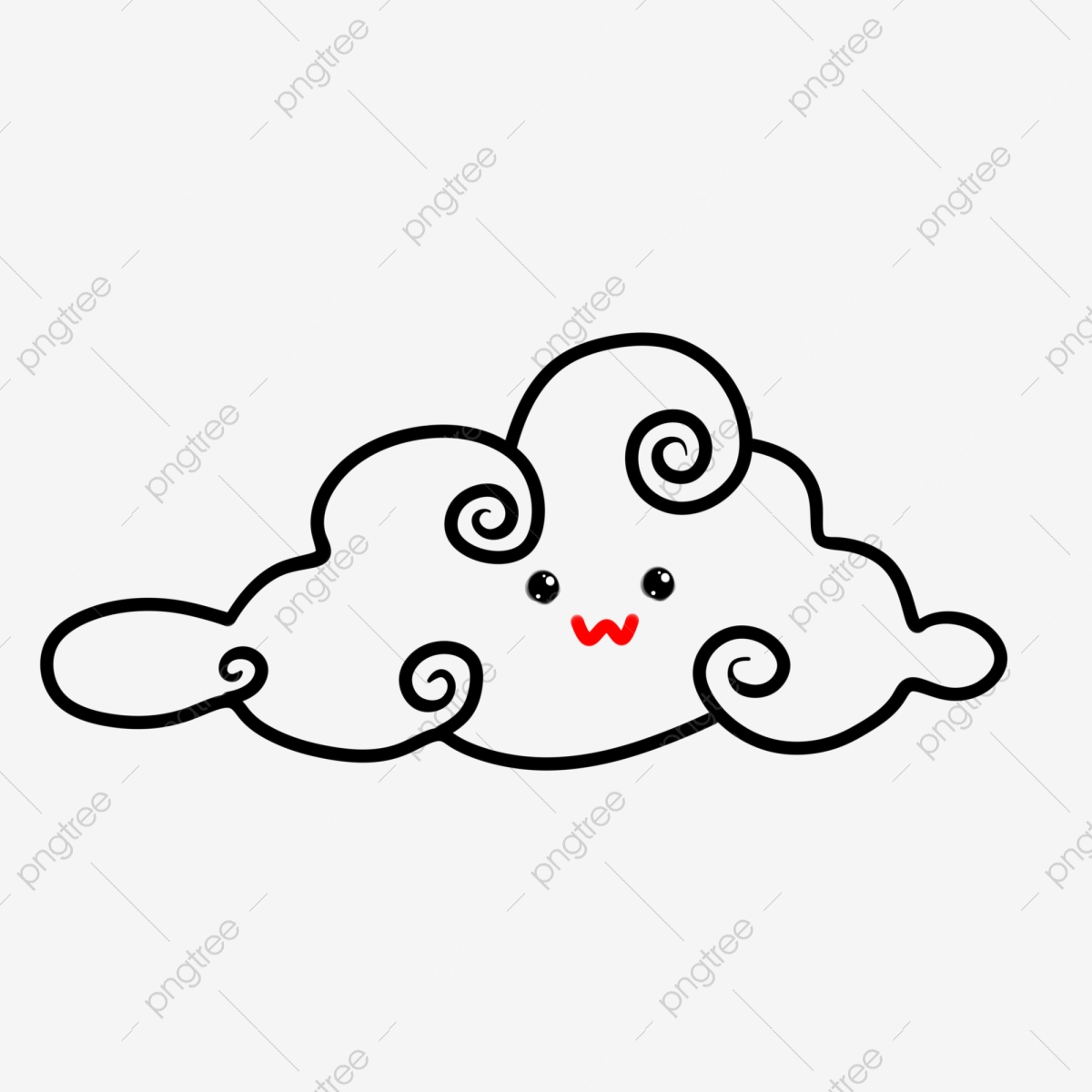Waves and Clouds Clip Art