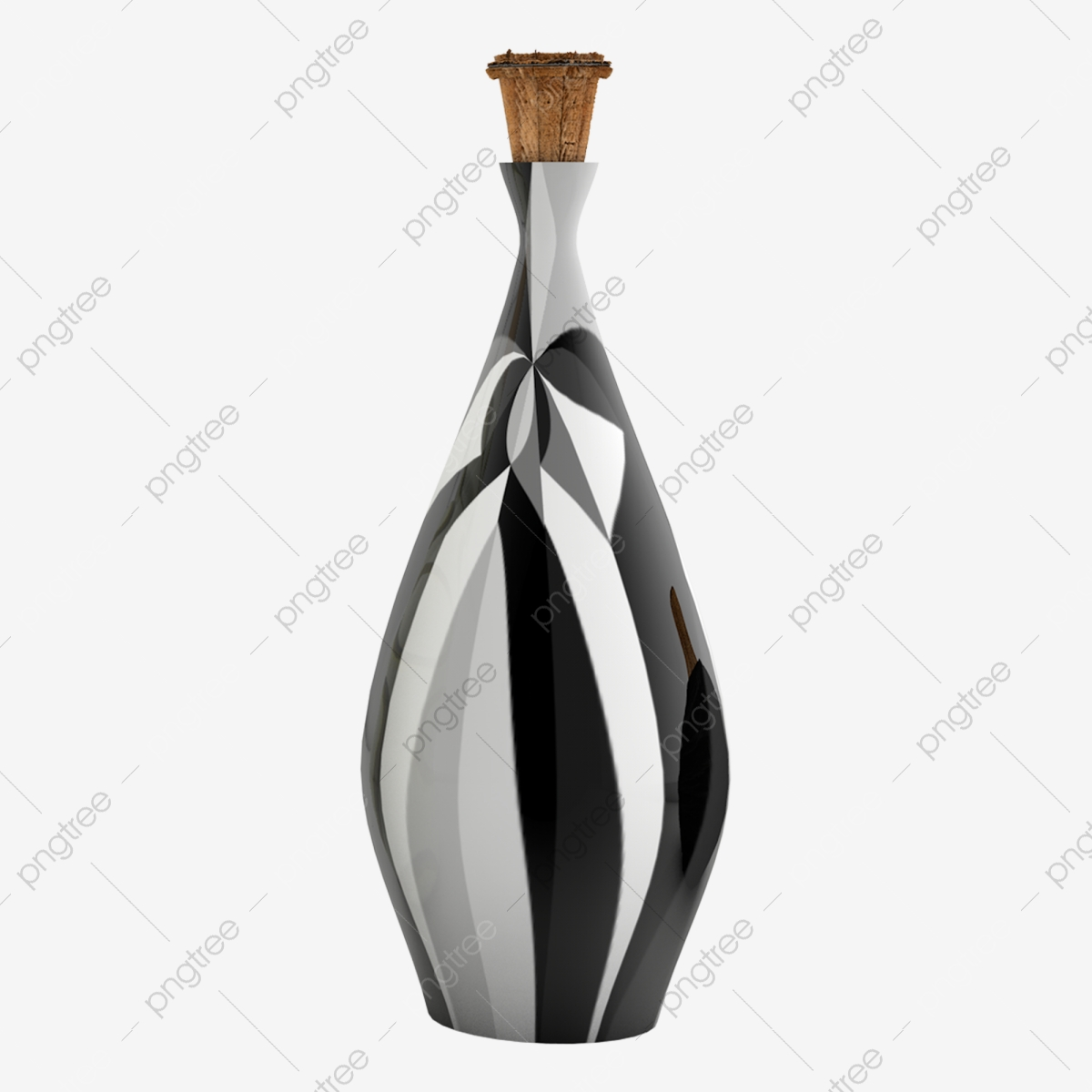 Individuality Pattern Art Decoration Bottle Daily Necessities Black And White Elements Black And White Bottle Art Decoration Decorative Bottle Png Transparent Clipart Image And Psd File For Free Download