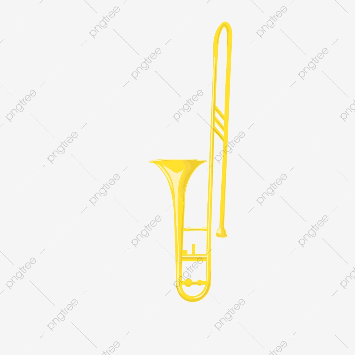 楽器黄色のトロンボーン要素 楽器 音楽祭 黄画像素材の無料ダウンロードのためのpngとベクトル