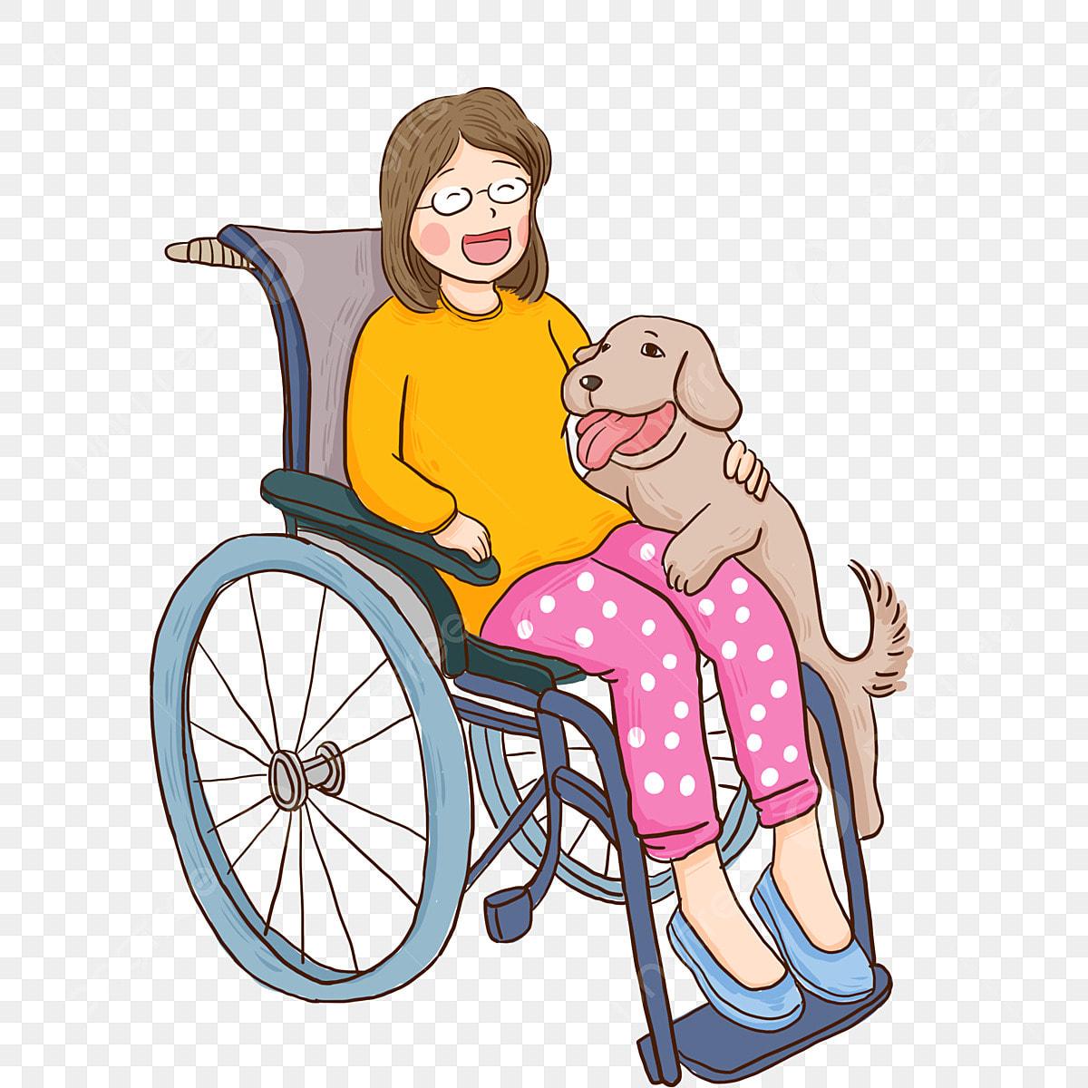 Une Fille Handicapée Optimiste Et Son Personnage De Dessin