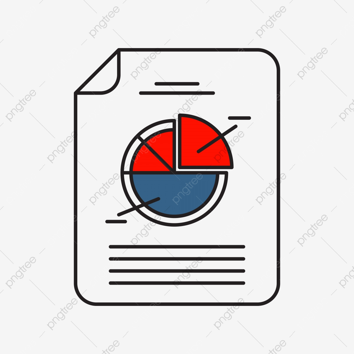 Pie Chart Icon | Business And Finance With Outline Filled