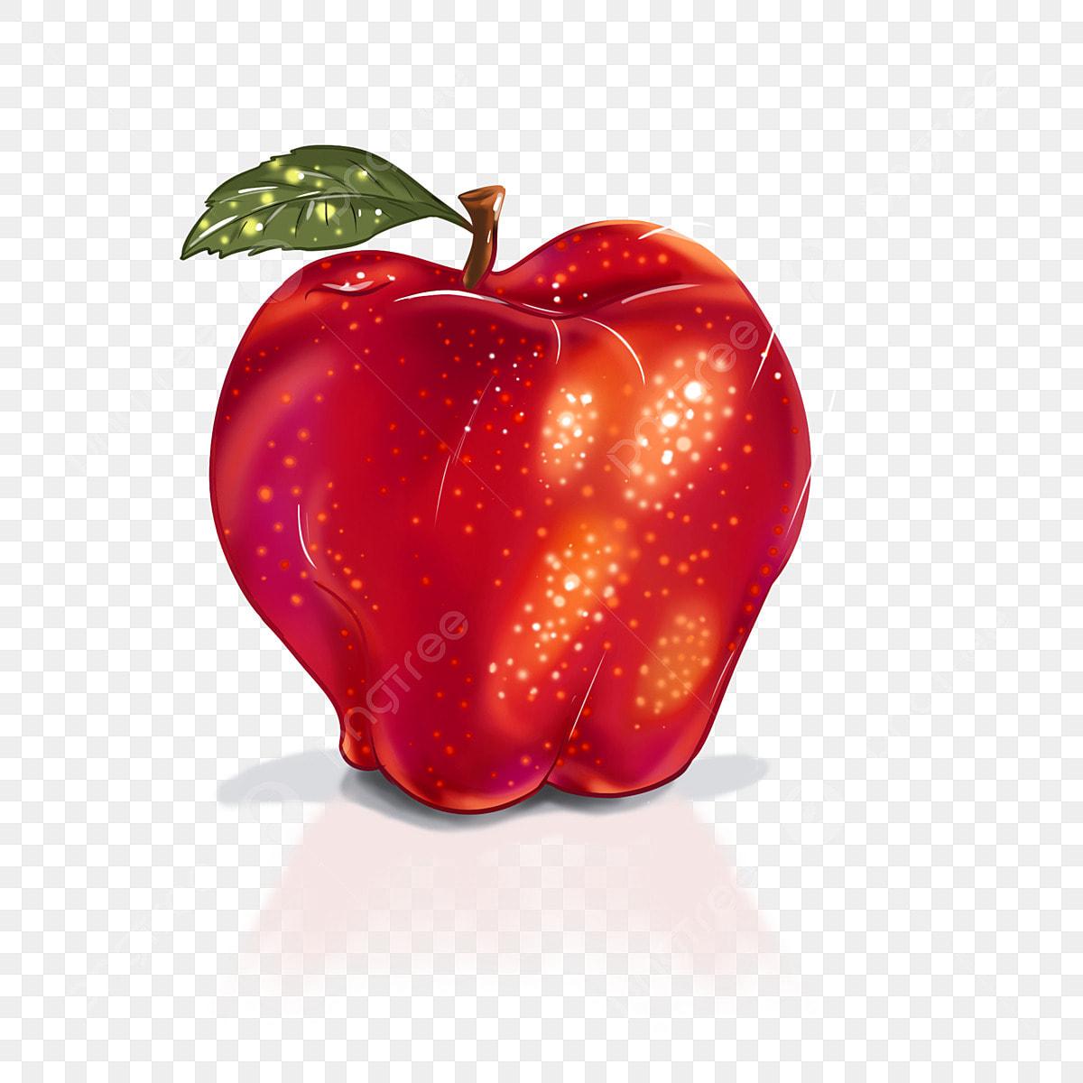 Image Brillante De Noel.Pomme Rouge Brillante De La Veille Noel Pomme Apple Veille