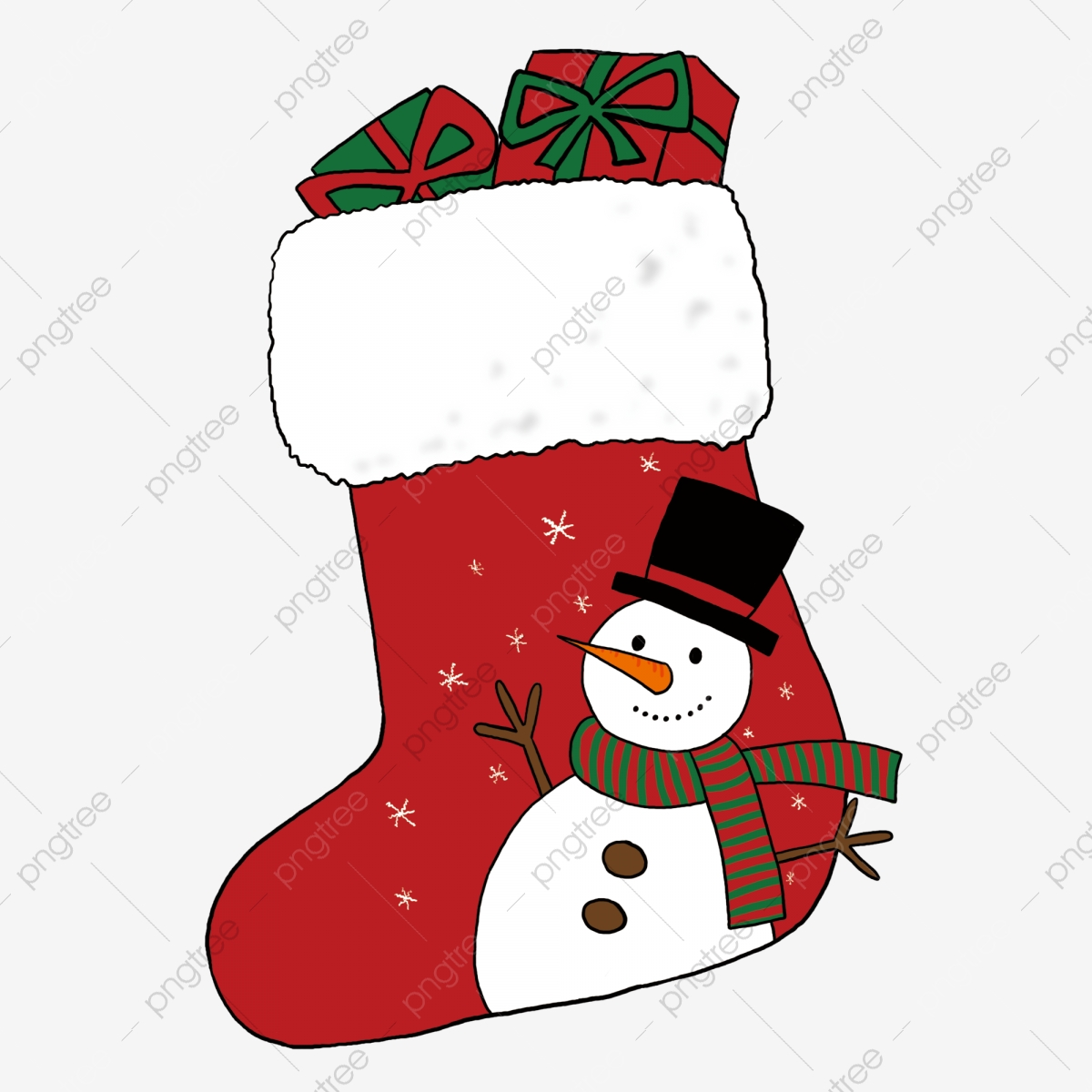 Snowman Christmas Stockings Filled With Gifts, Gift ... (1200 x 1200 Pixel)