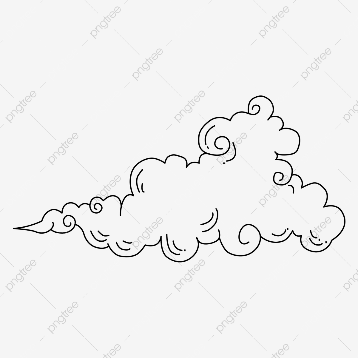 Stick Figure White Clouds Can Be Commercial Elements Stick Figure White Clouds Cloud Png And Vector With Transparent Background For Free Download