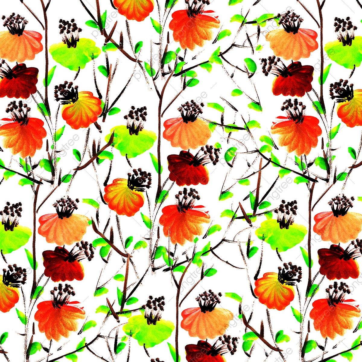 Watercolor Floral Background Watercolor Wallpaper Coquelicot