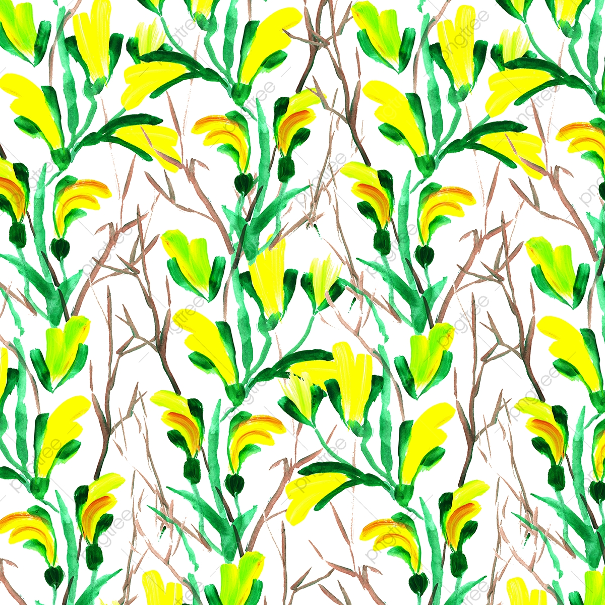 Watercolor Floral Background Wallpaper Plant Stem Grass Png And