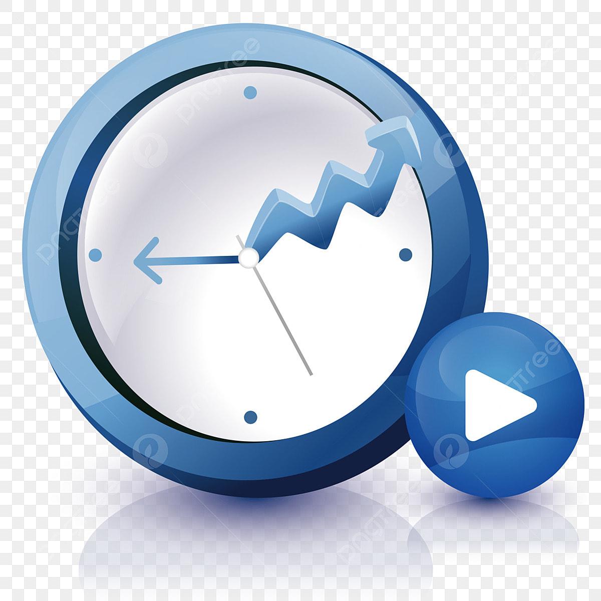 Beautiful Creative Clock Icon, Alarm Clock, Clock, Video
