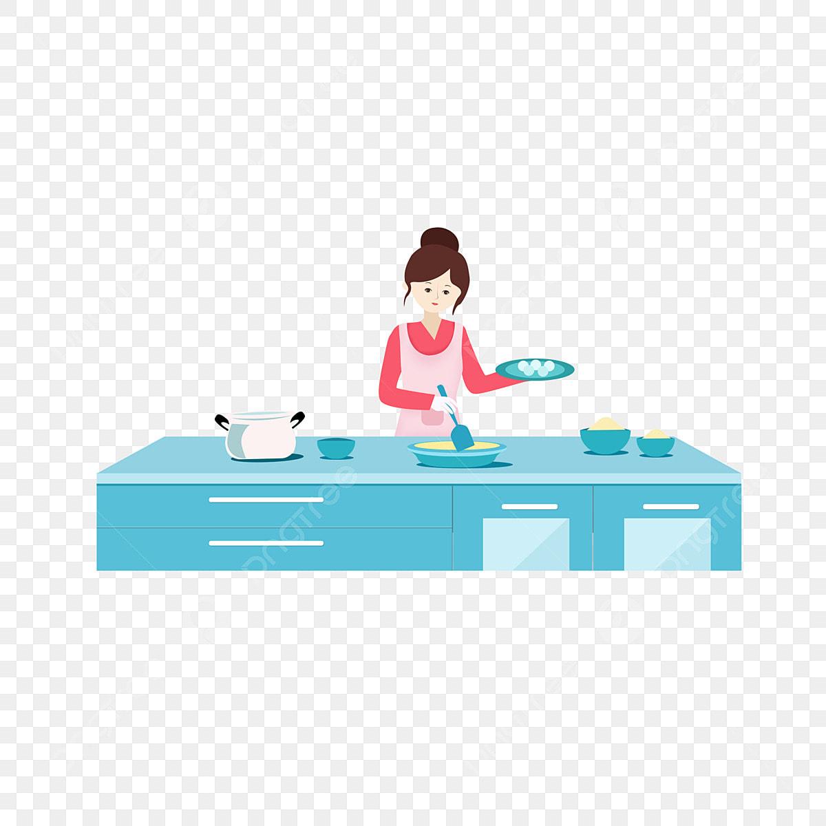 Gambar Reka Bentuk Elemen Gadis Cantik Untuk Memasak Di Dapur Dapur Makanan Kecantikan Png Dan Clipart Untuk Muat Turun Percuma