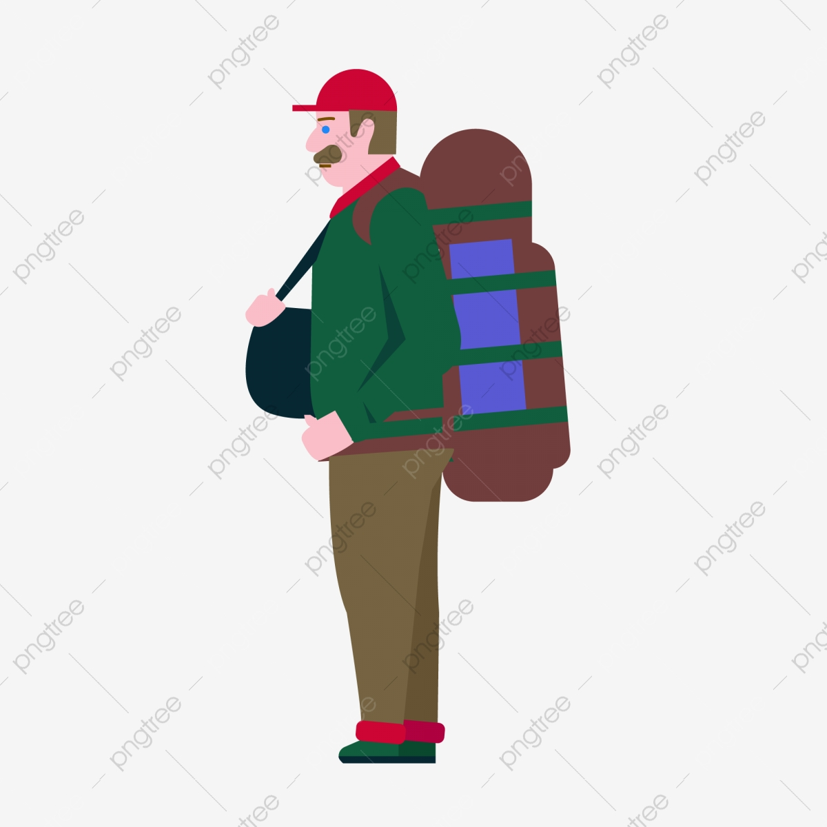 Boy Carrying Luggage Backpack Hand Drawing Boy Carrying Luggage Backpack Tourism Travel Png Transparent Image And Clipart For Free Download