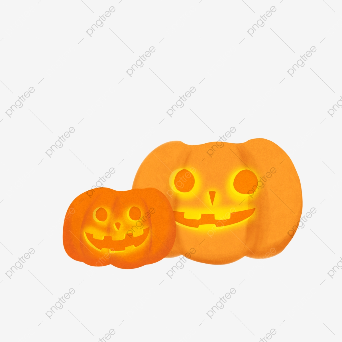 Matériel De Dessin Animé Mignon Grande Citrouille Halloween