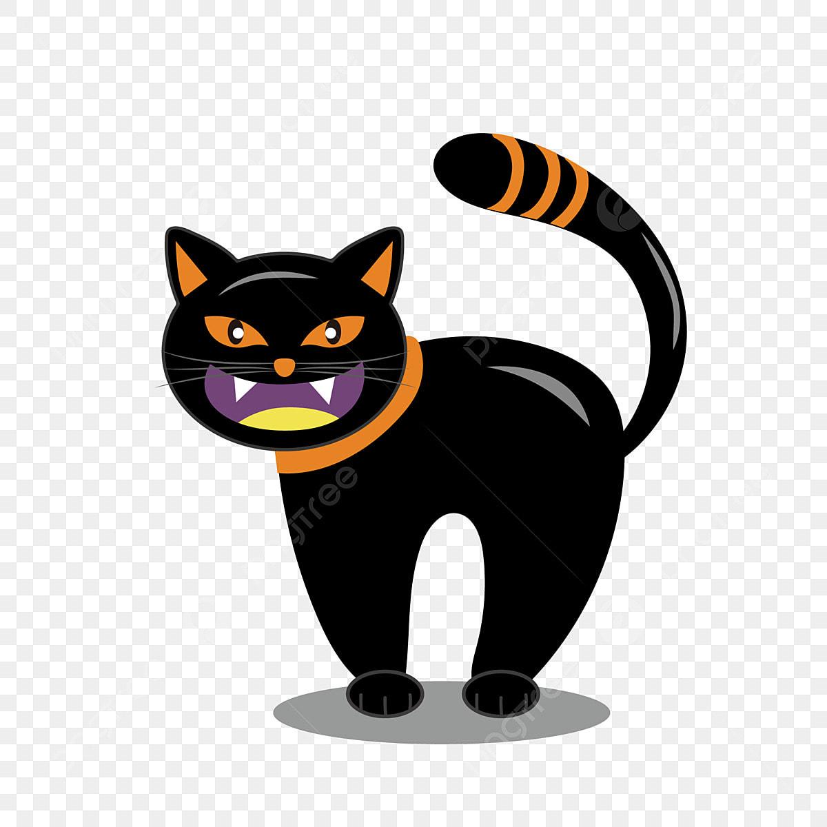 élément De Dessin Animé Mignon Halloween Drôle Chat Noir
