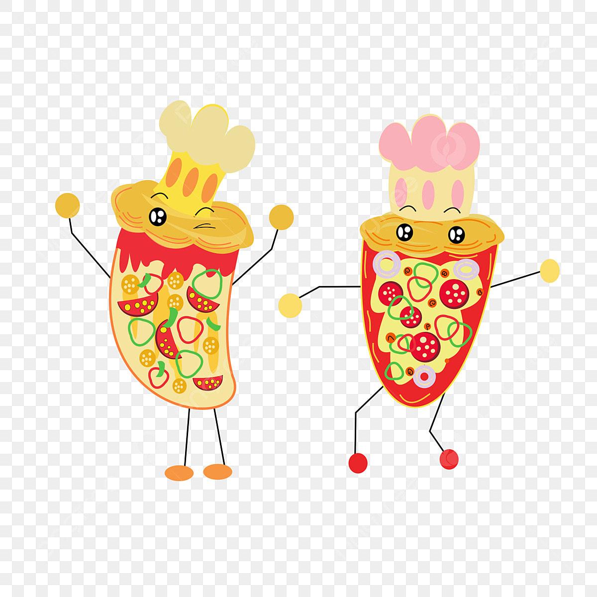 الكرتون لطيف البيتزا عنصر لذيذ الرقص الطفل اختبار لطيف بيتزا تصميم العنصر Png صورة للتحميل مجانا