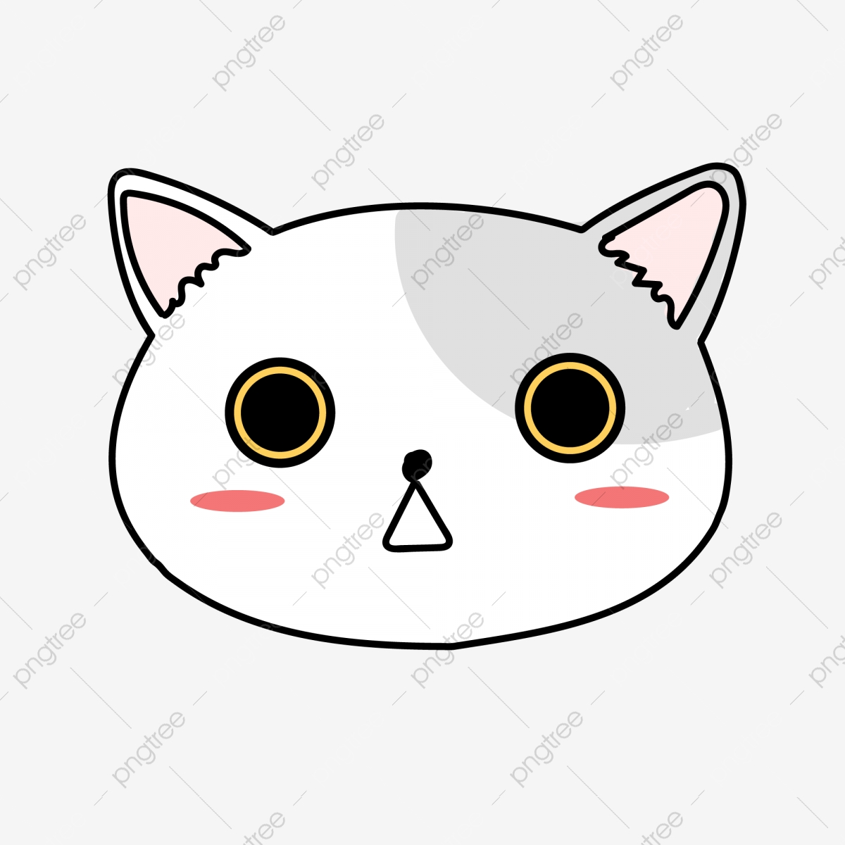 Kartun El Batang Angka Kucing Kepala Elemen Ungkapan