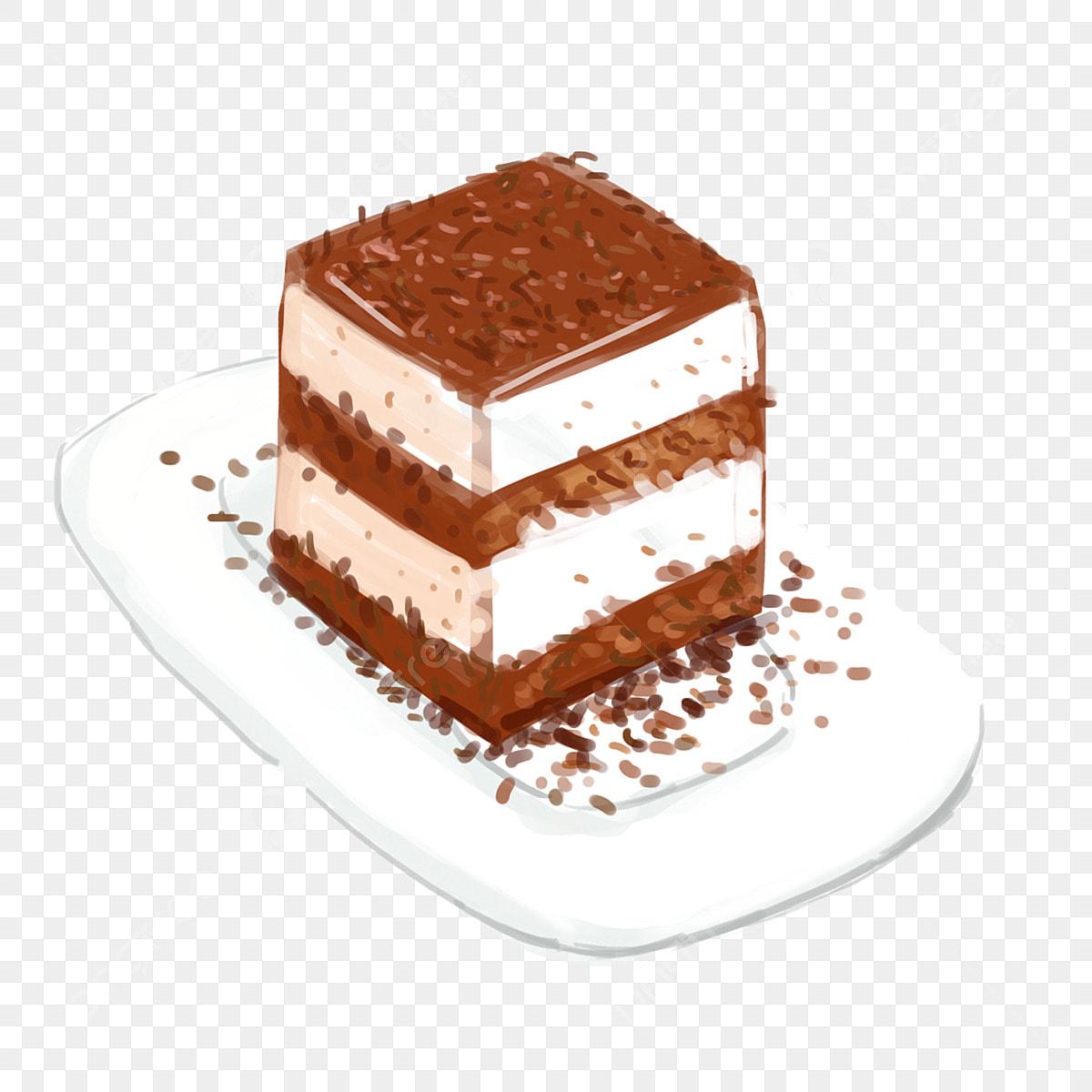 Element De Gateau Au Chocolat Creme Dessine Main Dessin Anime