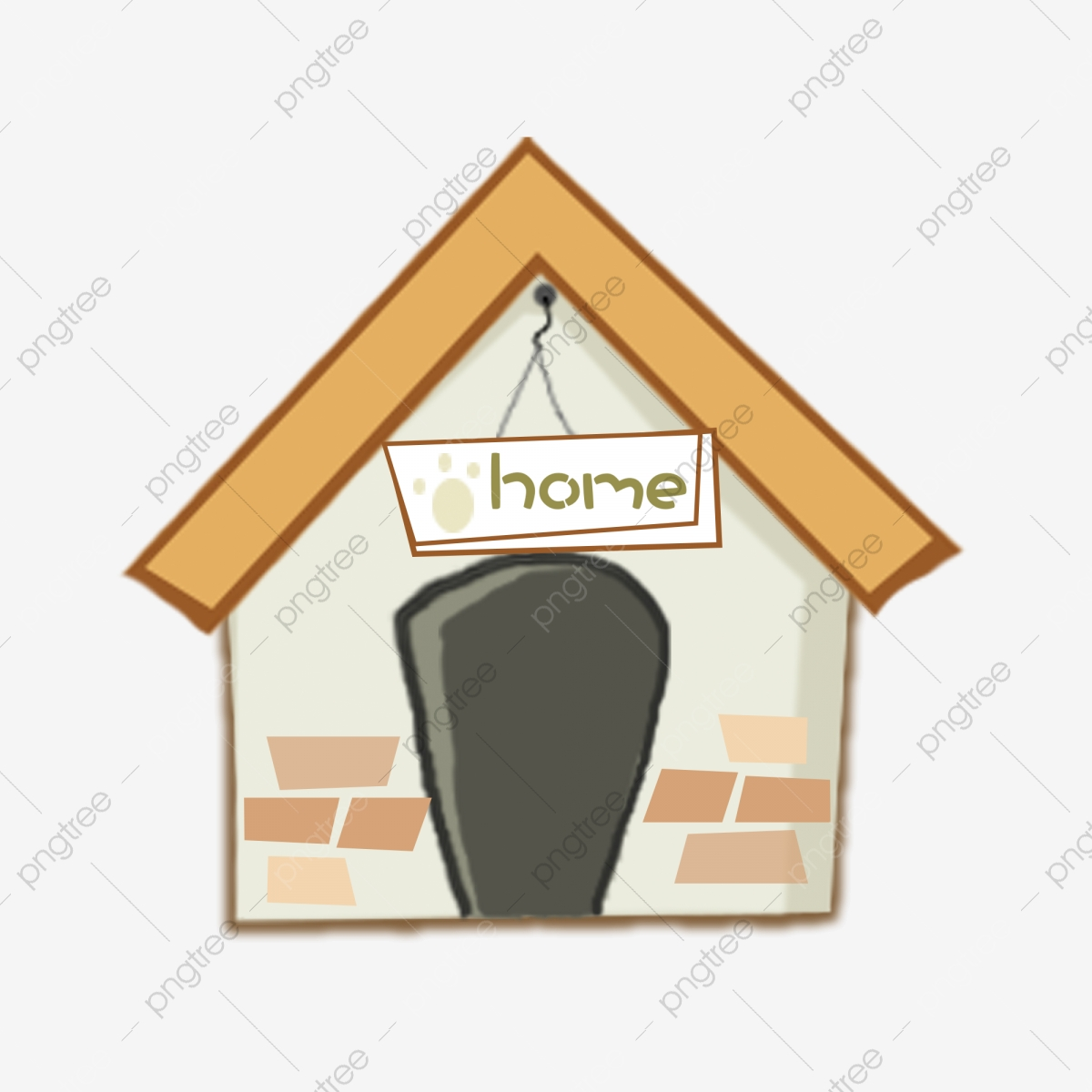 Cartoon Pet Dog House Element, Yellow, House, Kennel PNG