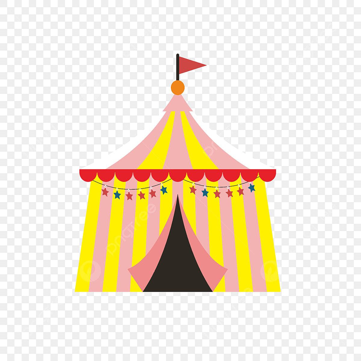 Tenda De Desenhos Animados Com Elementos Comerciais Tenda