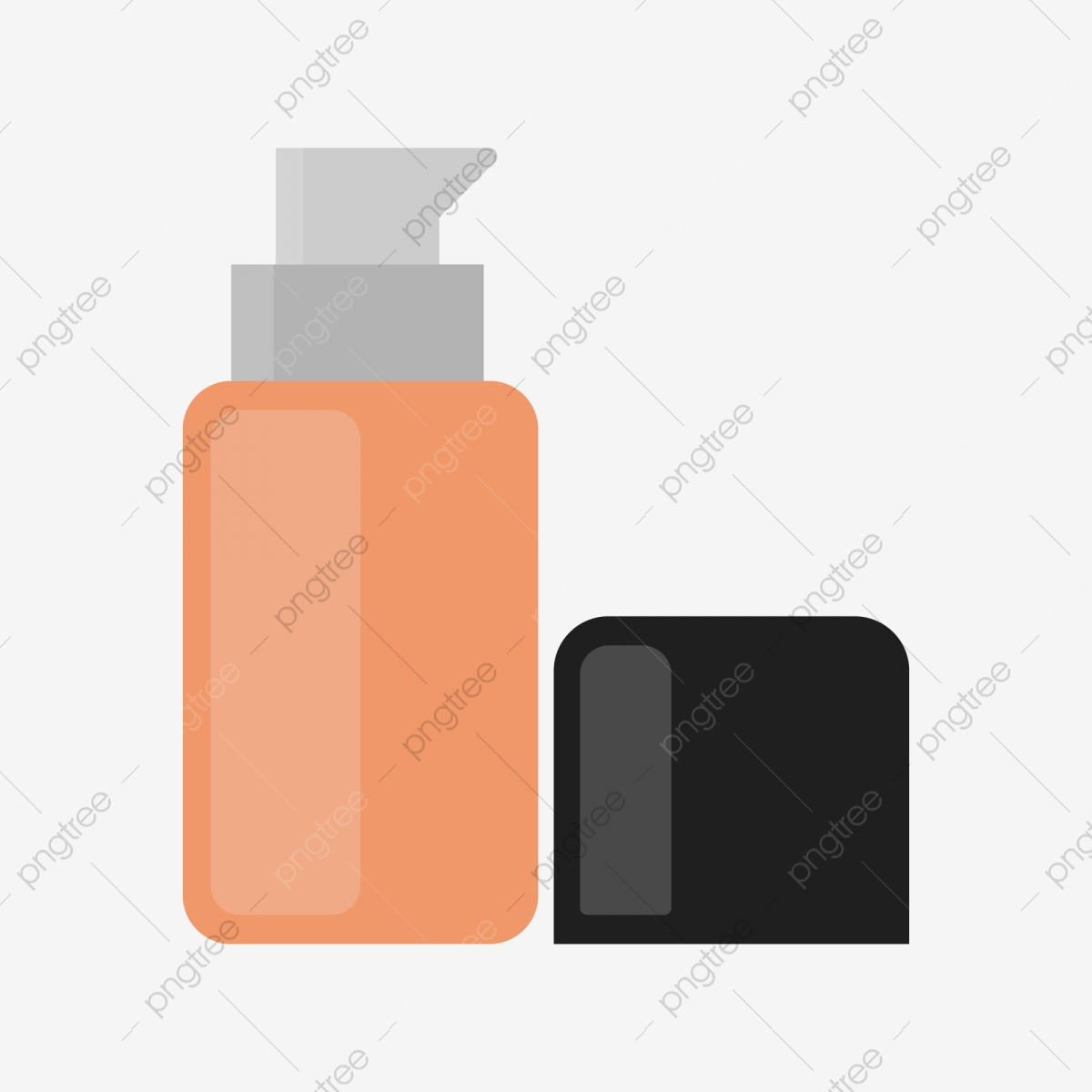 Cartoon Wind Cosmetic Liquid Foundation Ai Design Element