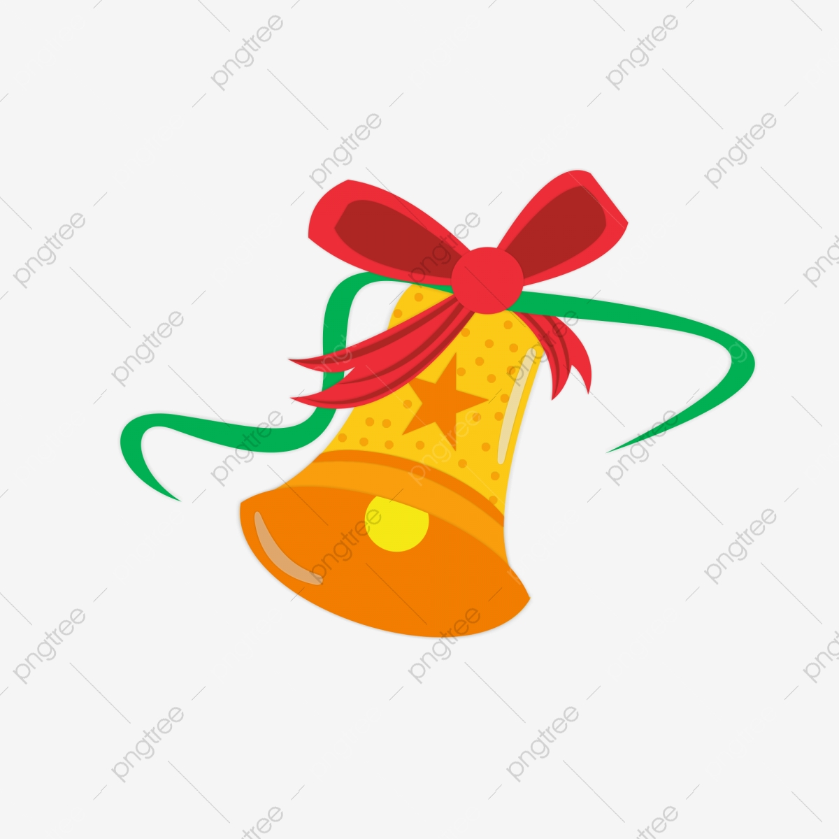 Christmas Bells Element Cartoon Cute Yellow Bell Christmas