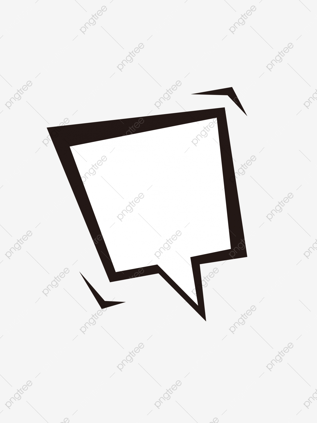Concise Comic Dialog, Dialog, Frame, Comic Box PNG and