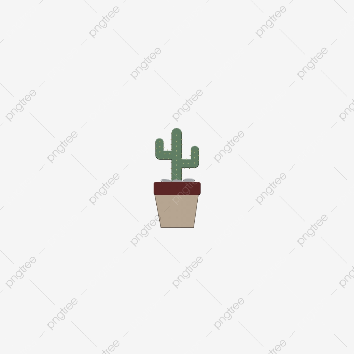 Cactus minimalist. Furniture element green plant