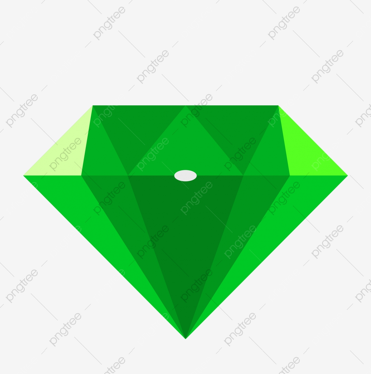 Diamond green. Gemstone png transparent clipart