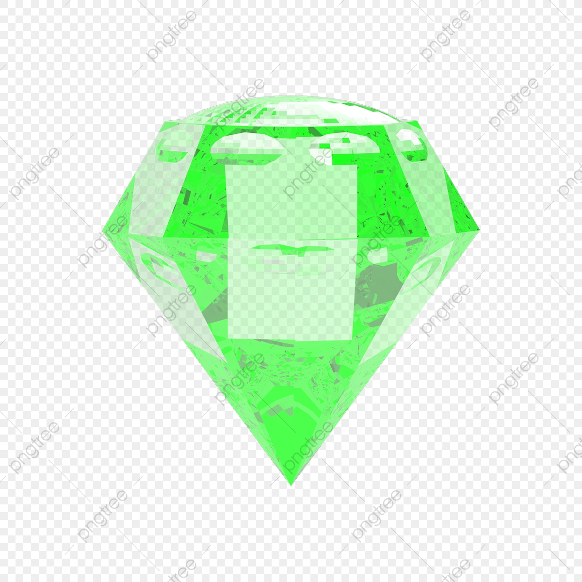 Green Gem Avec Fond Transparent Diamond Digital Gem Fichier PNG et
