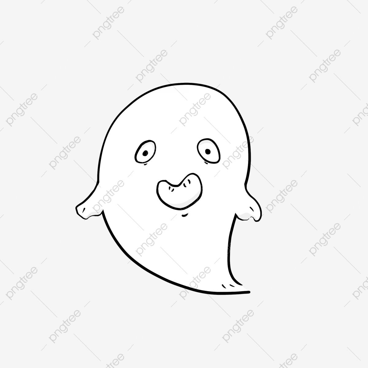 Halloween Cartoon Spooky Decorative Elements Halloween Ghost