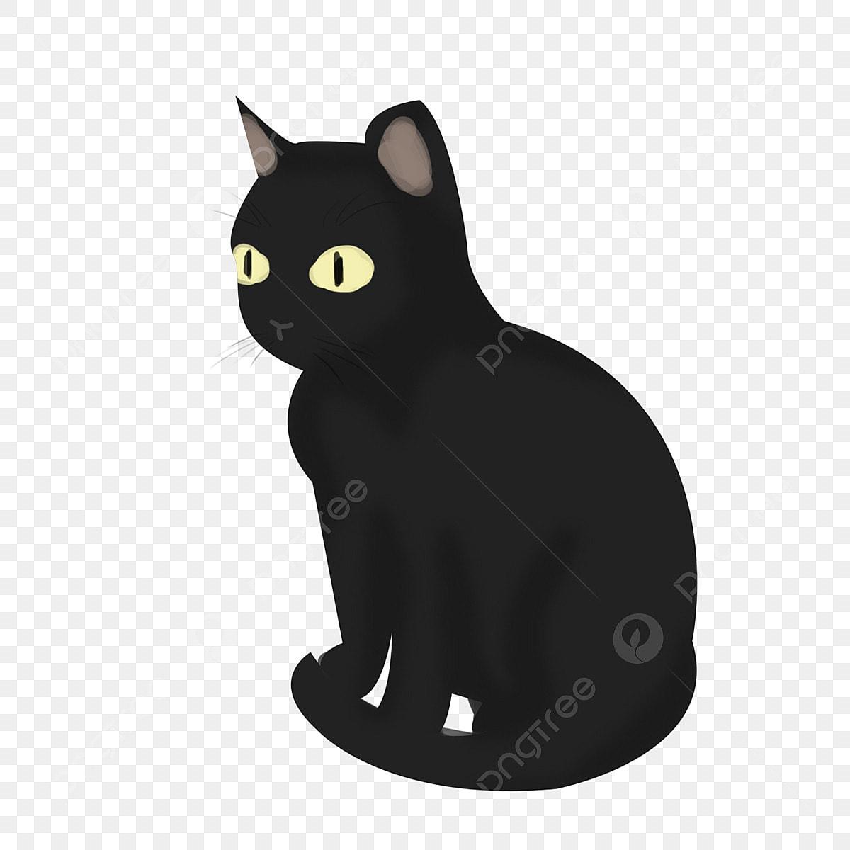 Unduh 89+  Gambar Kucing Hitam Kartun Terlihat Keren HD