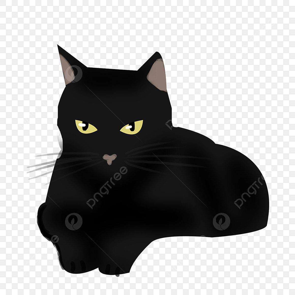 élément Dhorreur Mignon Dessin Animé Chat Noir Halloween
