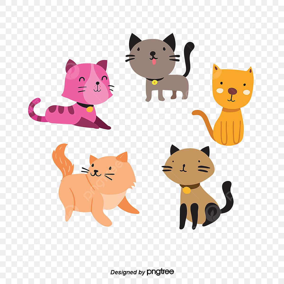 Gambar Kartun Kucing Boneka Yang Ditarik Tangan Ilustrasi