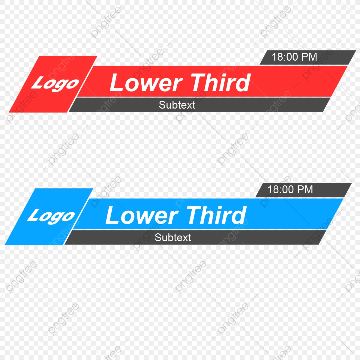 Lower Third Vector Banner, Free Lower, Third, Graphics PNG